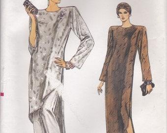 Asymmetrical Dress or Tunic Pattern Vogue 9134 Sizes 14 - 18 Uncut