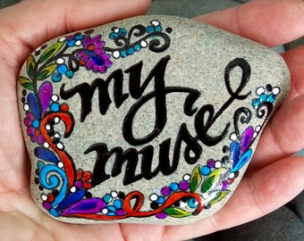 my muse / painted rocks / painted stones / inspirational / rock art / cape cod / sandi pike foundas / gifts for artists