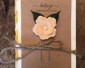 Peach Felt Flower Bookmark/Planner Clip/Planner Accessory