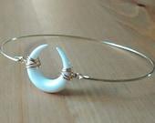Double horn bracelet - Double horn bangle - Moon bone bangle - Boho gypsy bracelet - Boho bangle - Gold bangle - Minimalist jewelry