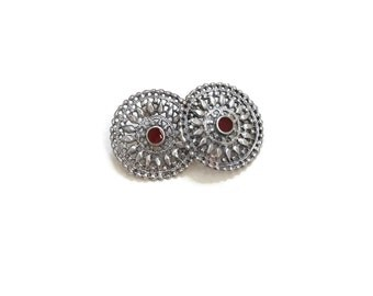 Vintage Sterling Silver Statement Earrings