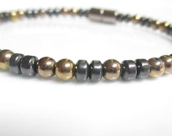 Magnetic Hematite Bracelet, Magnetic Bracelet, Magnetic Copper Bracelet, Magnetic Jewelry