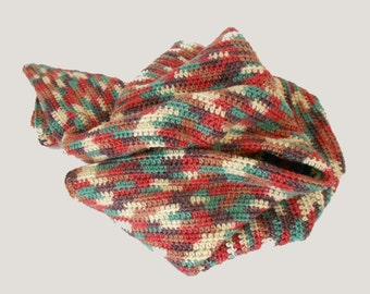 Crocheted Blanket Multi Colored Afghan - Crochet Blanket - Lap Blanket Throw in Jewel Tones
