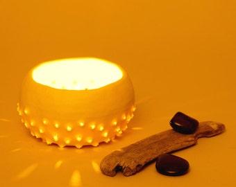 Porcelain Ceramic Candle Holder ~ Contemporary Ceramic Lighting Tea Light Holder Tealight Holder ~ Ceramic Bowl Ring Dish White Modern Bowl