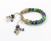 Tassel Bracelet, African Bracelet, Friendship Bracelet, Ethnic Fashion, Woven Friendship Bracelet, Tribal Bracelet, Gift for her, Green