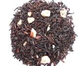 HAZELNUT CREME Tea Blend, Organic Whole Leaf Black Tea, Hand Blended, Nutty, Vanilla Tea, Hot Tea, 2oz Earth Friendly Packaging