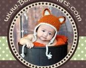 Little Fox Hat - PDF PATTERN - BeginnerCrochet - SIZE Newborn Infant 0-3 months