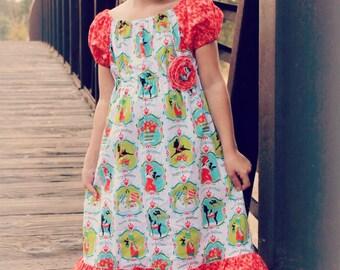 Christmas Holiday Girls Dress- size 5 dress/Ready to ship/SALE