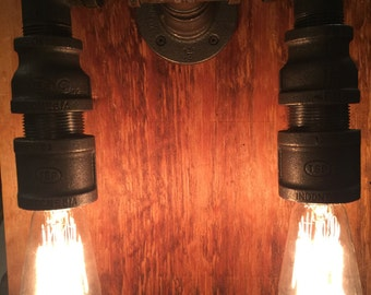 Industrial Large Wall Sconce ala Steam Punk - Made in the USA.