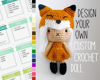Design Your Own Custom Crochet Doll - Made To Order - Amigurumi - Handmade Personalized Custom Plush