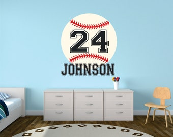 Baseball Wall Decal Personalized Name Decor Nursery