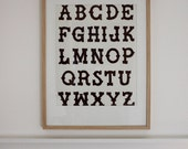 Little Folk Alphabet Poster