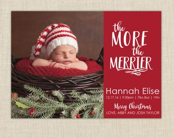 Christmas Birth Announcement. The more the merrier