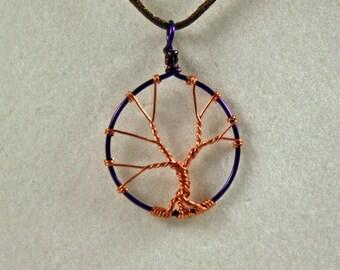 Copper tree pendant