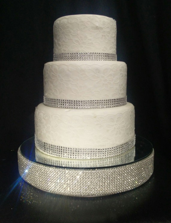 Rhinestone Diamante Wedding Cake Stand Plateau FREE SHIPPING