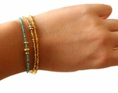 Beaded Bracelet. Pearl, Spinel or turquoise. Stacking Bracelet. Delicate tiny beads.Gold Fill or Sterling Silver. B-1930