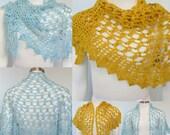 Pattern only - Honey, Honey Shawlette pattern crochet lace pattern shaw scarf