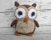 Hooty the Owl, Crochet Owl Stuffed Animal, Owl Amigurumi, Plush Animal, Made to Order