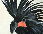Cockatoo Bird Art Painting Exotic Bird Art Black and White Bird Lover Canvas