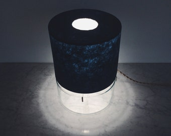 Closed Top Vessel Lamp, Deep Blue