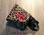 Headphone Case / Ear Bud Pouch / Earbud Holder / Zippered Coin Pouch / Personalize with Single Initial Monogram/ Pick Your Lining Color