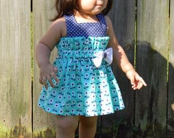 Amanda Nicole Joslynn's Gathered Dress - Toddler Dress - Girls Dress - Size 9 to 12 months