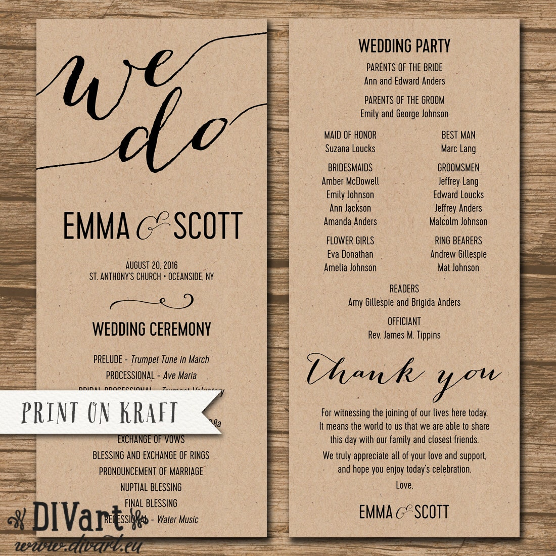 Beach Wedding Ceremony Processional: Wedding Program Ceremony Order Order Of Events