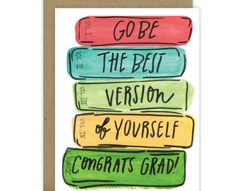 Graduation Card / Happy Graduation / You did it / Grad Card / Happy Grad Day / New adventure / Go be the best version of yourself