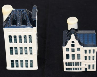 Blue Delft Houses, numbers 75 and 88, for KLM by BOLS, Amsterdam