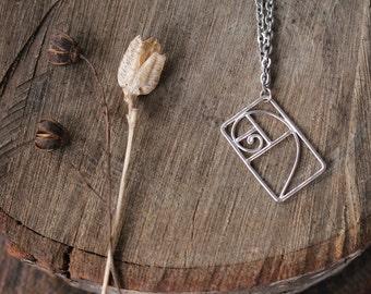 Sterling Fibonacci Necklace