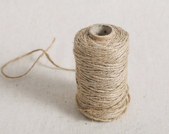 50 Meter vintage natural JUTE Twine String for crafting, gift wrapping, packaging, invitations