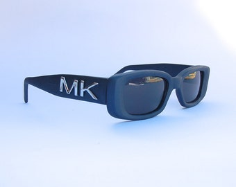 Vintage 90s Squared Sunglasses / Blue rectangle shades -  NOS Dead Stock - Clubkid/cyber/raver