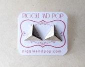 Triangle Stud Earrings. Brushed Silver Earrings. Silver Triangle Earrings. Hypoallergenic Earrings. Geometric Earrings Contemporary Jewelry.