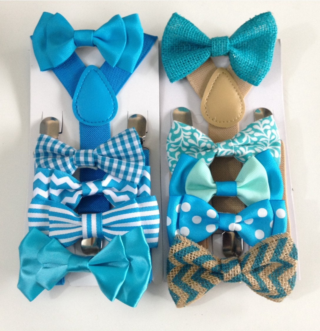 turquoise baby bow tie suspenders boys bowties malibu toddler