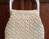 Vintage 1950s Bag with Lucite Handles