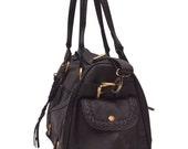 SALE. VAGABOND. Duffel bag / leather weeekender bag / leather travel / leather satchel / overnight bag.
