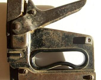 Vintage Staple Gun.Bostitch Tacker Stapler.Industrial Tool.Antique Tools.Vintage Staple Gun.Industrial Vintage.Handyman.Antique Stapler.