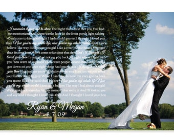 Wedding Gift, First Dance Lyrics on Canvas, Brad Paisley, I thought I loved you then, bride and groom