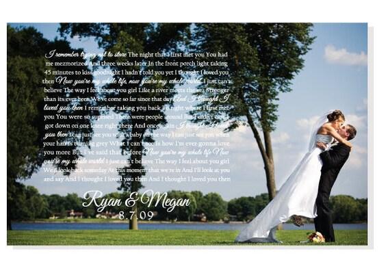 Wedding Present Box Elder Lyrics : Wedding Gift, First Dance Lyrics on Canvas, Brad Paisley, I thought I ...