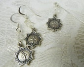 Free US Shipping~Miraculous Medal Mantilla Veil and Earring Set~