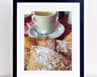 Morning Call: 8 x 10 Beignets and Cafe au Lait Photograph