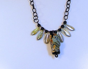 FROG and LEAF NECKLACE