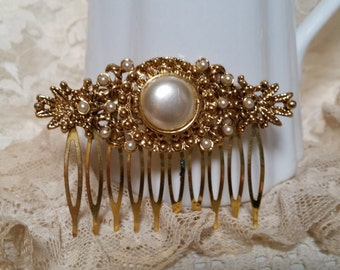 VINTAGE Hair Comb Bride Bridal Hair Accessories Victorian Rustic Shabby Chic Classic Mother Art Nouveau Country Barn Wedding