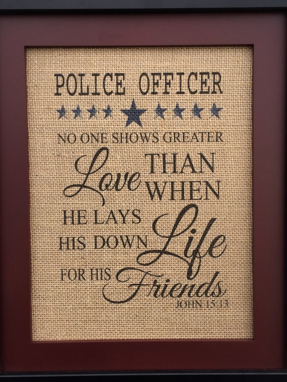 Police Officer Burlap Print Rustic Home Decor Leo By Home Decorators Catalog Best Ideas of Home Decor and Design [homedecoratorscatalog.us]