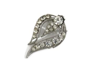 Vintage Rhinestone brooch Unsigned Shooting Comet Antique Rhinestone Jewelry