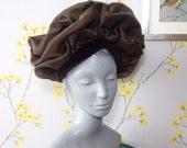 Vintage Statement Hat Brown Poppy Hat Vintage Nylon Pleated Hat Occasion Hat Webron Model