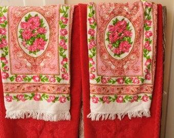 Vintage Mismatched Towels Set of Four