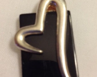Sale Sterling Silver Abstract Heart Pendant