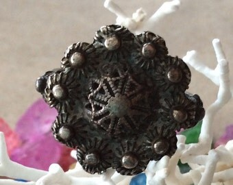 Very Old Sterling Silver Handmade Ring - Size 5