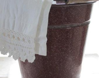 Antique Enamelware Bucket